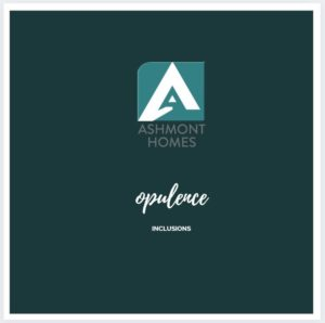 ashmont homes inclusions Opulence Cover Page